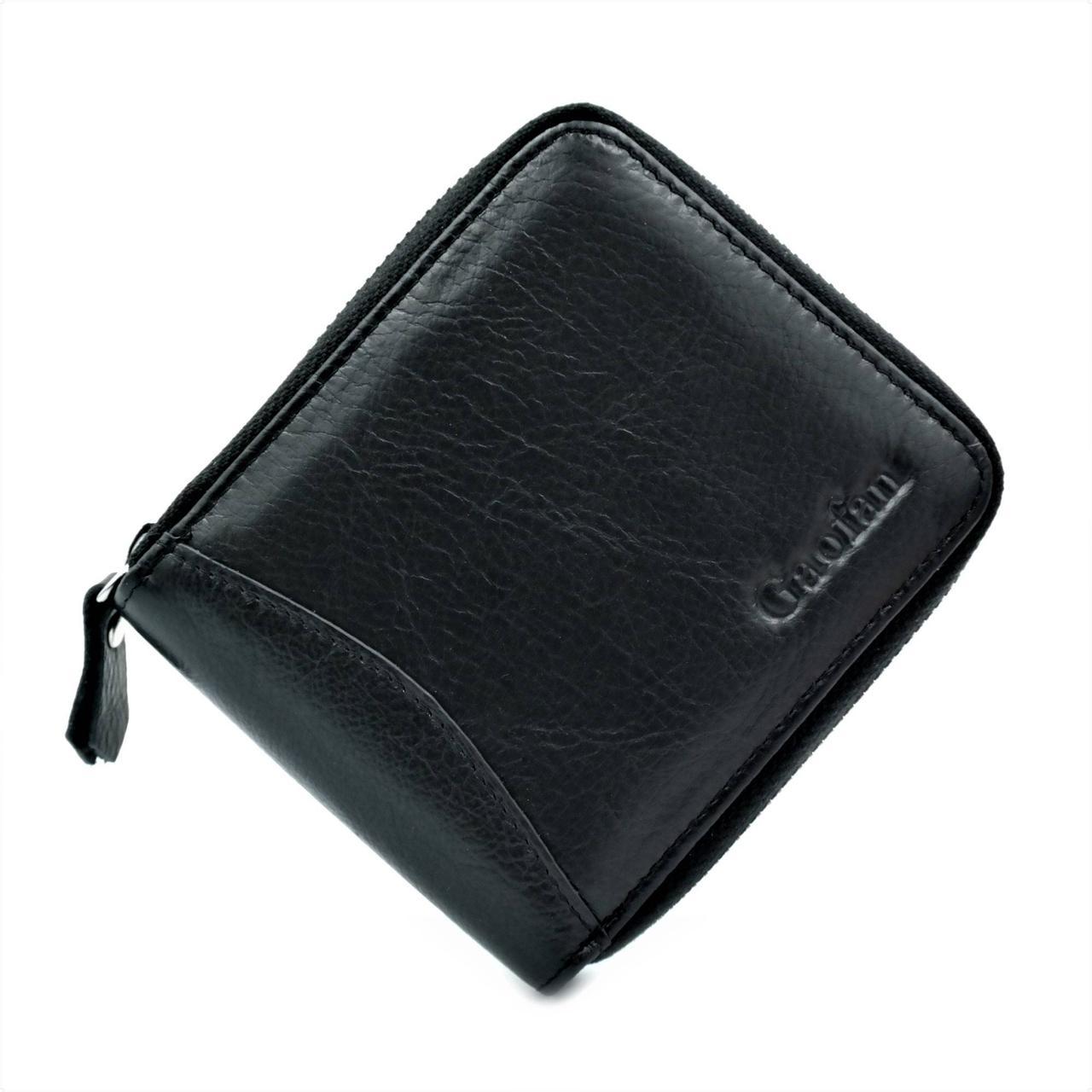 Мужской кожаный кошелек Чёрный (nw-k-295)