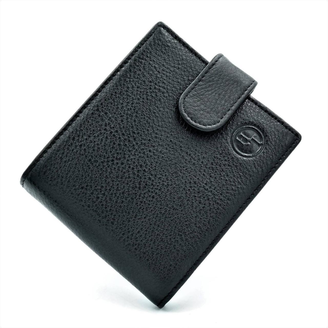 Мужской кожаный кошелек H.T.Leather Черный (408)
