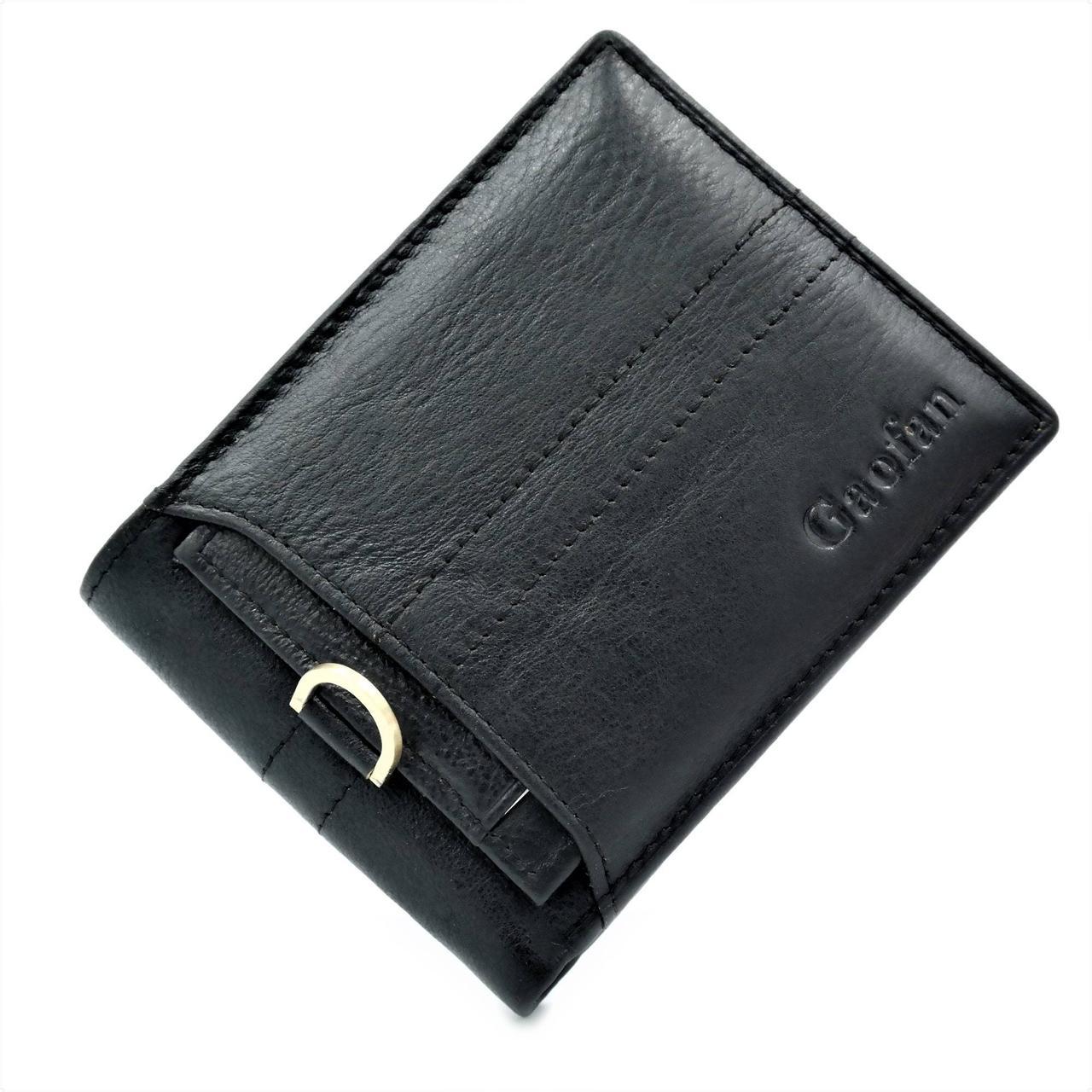 Чоловічий шкіряний гаманець Чорний (nw-k-110053)