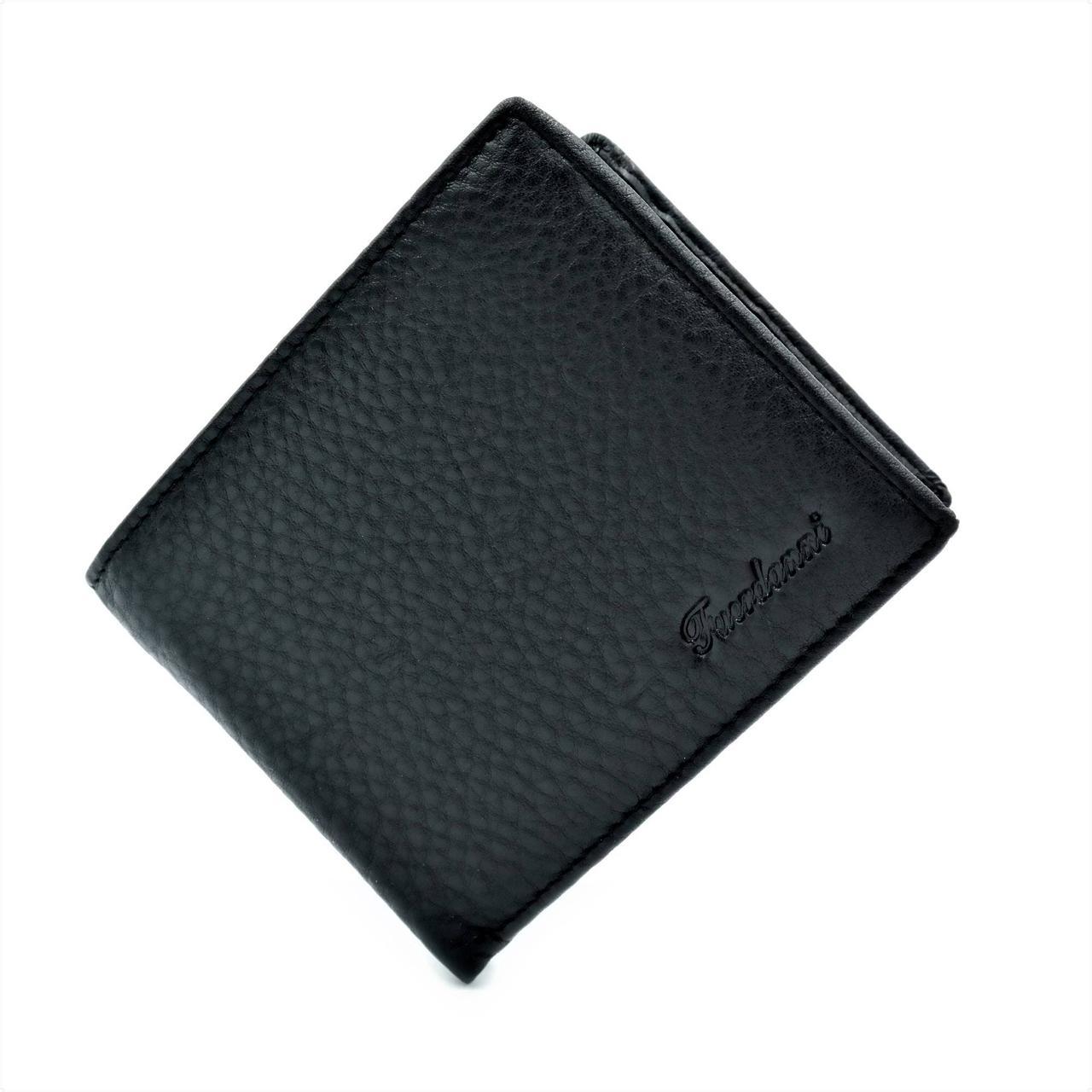 Мужской кожаный кошелек Чёрный (nw-k-F8903-1)