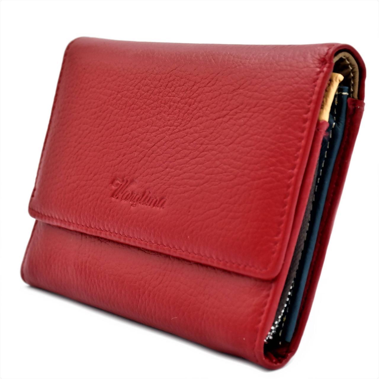 Женский кожаный кошелек A173-8842-2 Красный