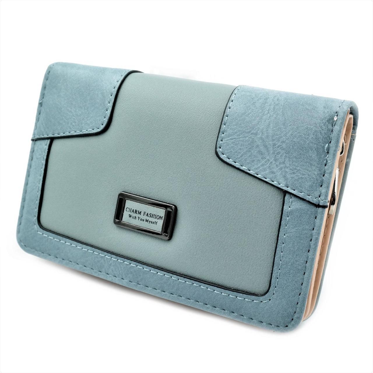 Жіночий гаманець 819-13-6 Блакитний