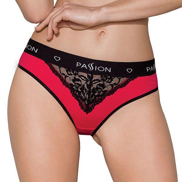 Трусики с широкой резинкой и кружевом PS001 PANTIES red/black M - Passion