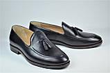 Чоловічі шкіряні туфлі лофери чорні IKOS 010 - 1, фото 4