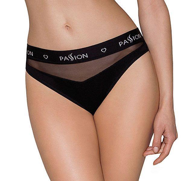 Трусики с прозрачной вставкой PS006 PANTIES black XL - Passion