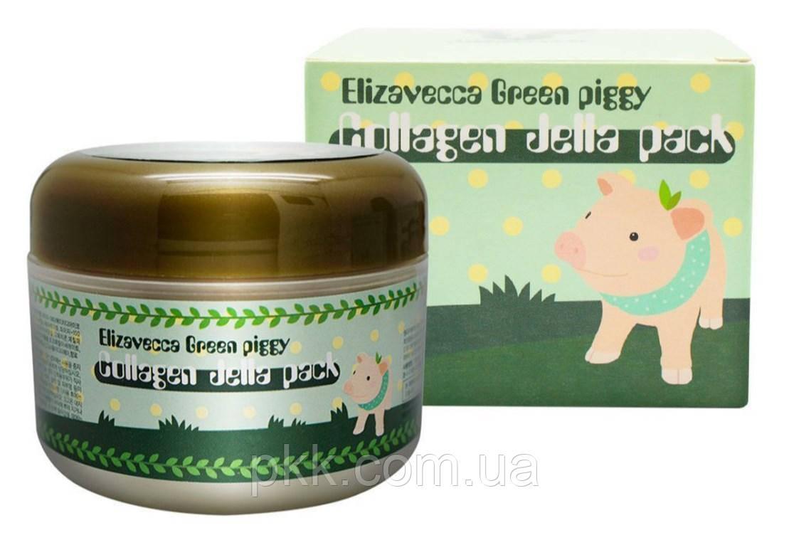 Маска для обличчя Elizavecca Green piggy Collagen Jella Pack омолоджуюча 100 мл