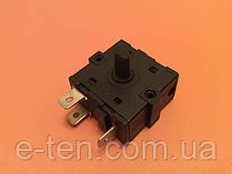 Перемикач потужності на 2 робочих положення - 3 виходи (контакти 3+0) / 16A / 250V для обігрівачів,камінів