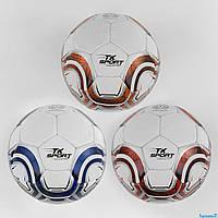 М'яч футбольний GA- 2033 E (50) `` TK Sport``, 3 види, матовий, 420-430 грам, ручний шов, матеріал T