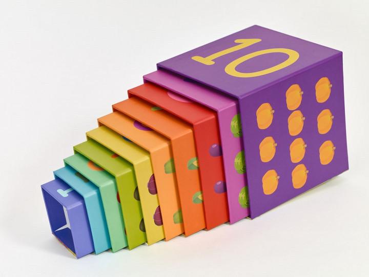 Кубики-трансформер пирамидка Овощи, Classic world