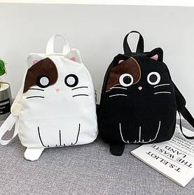 Гарний рюкзак з унікальним принтом кота