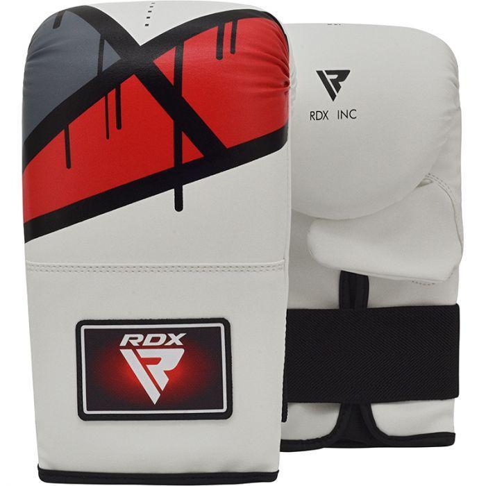Кращі снарядні рукавички шкіра битки RDX Rex Red Leather білі з червоним