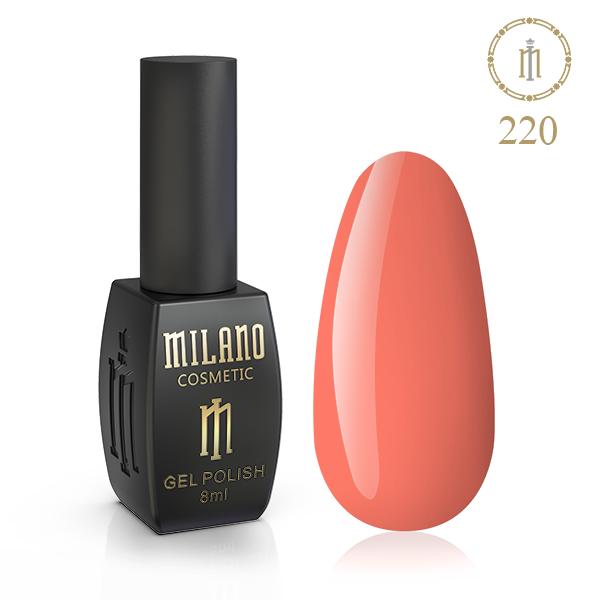 Гель лак MILANO 8ml № 220 (Оранжевая заря)