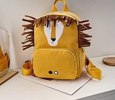 Стильний дитячий рюкзак з милими принтами і вушками, фото 3