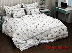 """Ткань для постельного белья Бязь """"Gold"""" GLL2829blue (50м) мелкий цветочек на белом"""