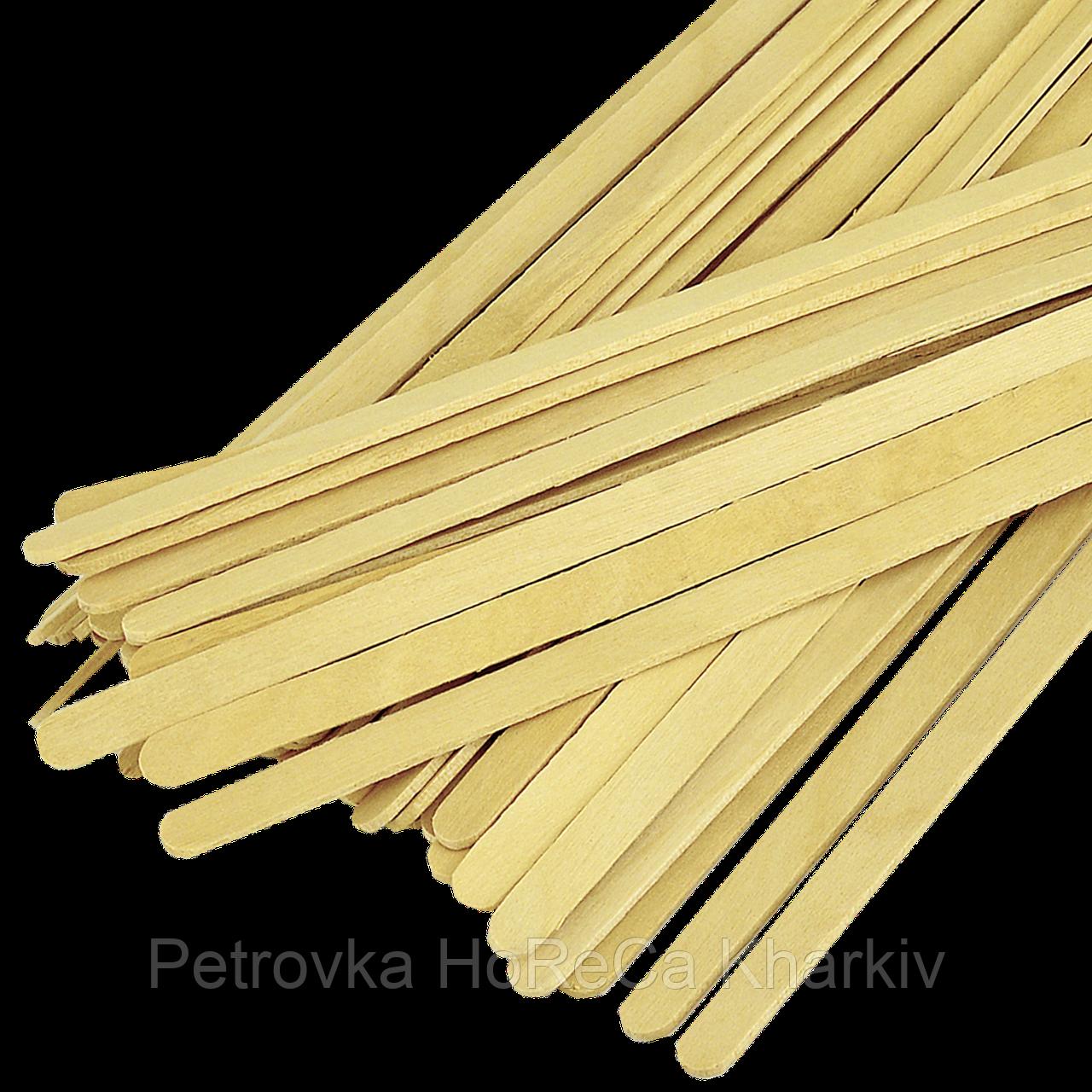 Мішалка дерев'яна 180*6*1,8 зиппакет (1уп/800шт/1ящ/16уп)