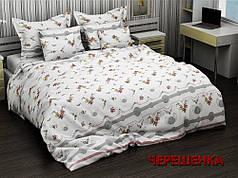 """Ткань для постельного белья Бязь """"Gold"""" GLL2829red (50м) мелкий цветочек на белом"""