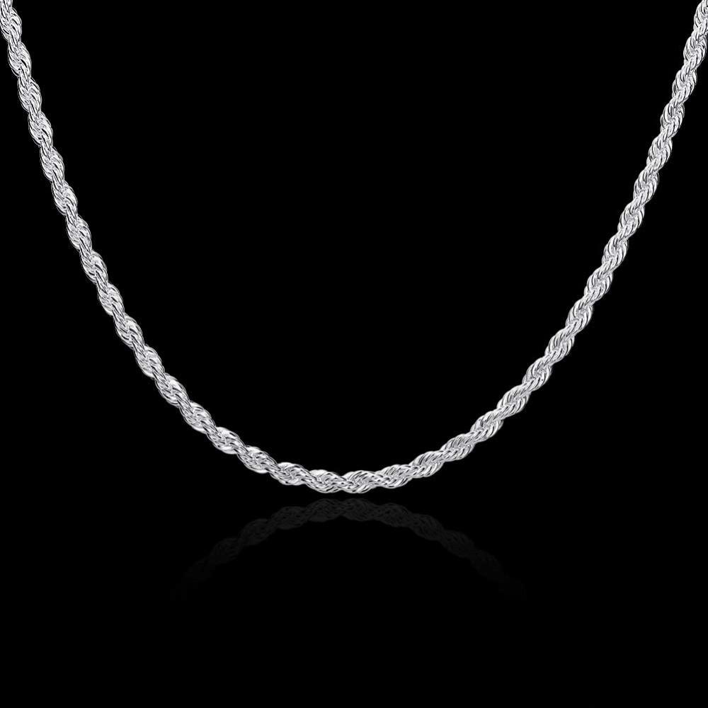 Цепочка женская витая Колосок покрытие серебро