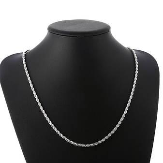 Цепочка женская витая Колосок покрытие серебро, фото 2
