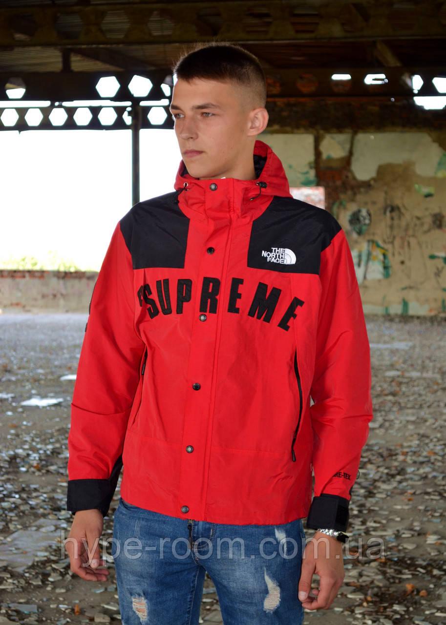 Мужская ветровка Supreme The North Face Gore Tex Red куртка суприм тнф tnf