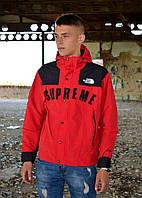 Мужская ветровка Supreme The North Face Gore Tex Red куртка суприм тнф tnf, фото 1