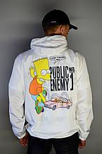 Мужская легкая ветровка Off-White Bart Simpson White