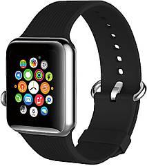 Силиконовый ремешок Promate Silica-42 для Apple Watch 42-44 мм Black