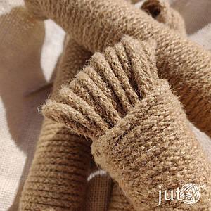 Шнур джутовый (плетеный) 5 мм - 20 метров