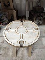 Деревянный винный столик раскладной 33см клен