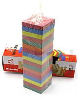 """Игра """"Дженга"""", разноцветная на 51 брусок (25х7,5х7,5 см.)"""