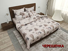 """Ткань для постельного белья Бязь """"Gold"""" GLL4284 (50м) принт ретро"""