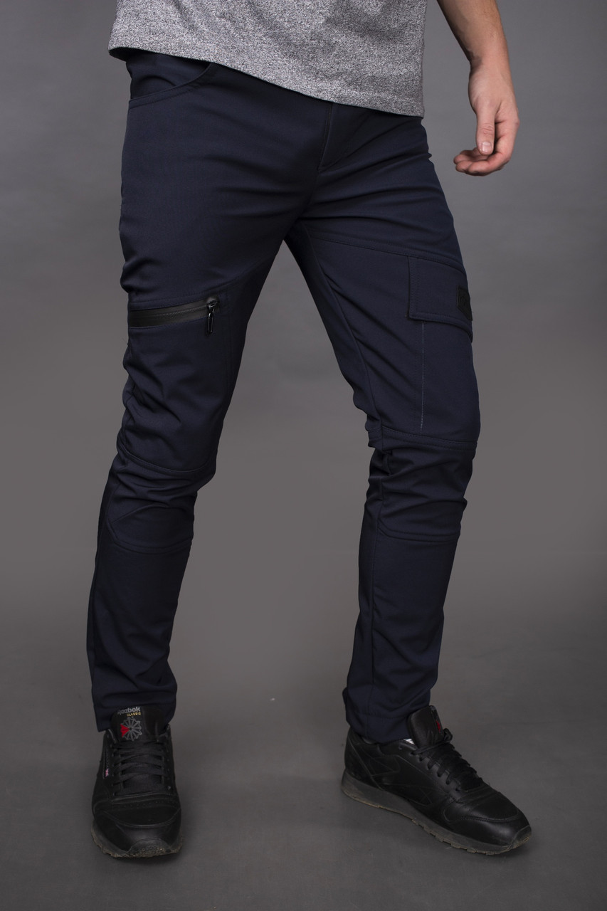 Мужские темно синие зимние штаны Intruder