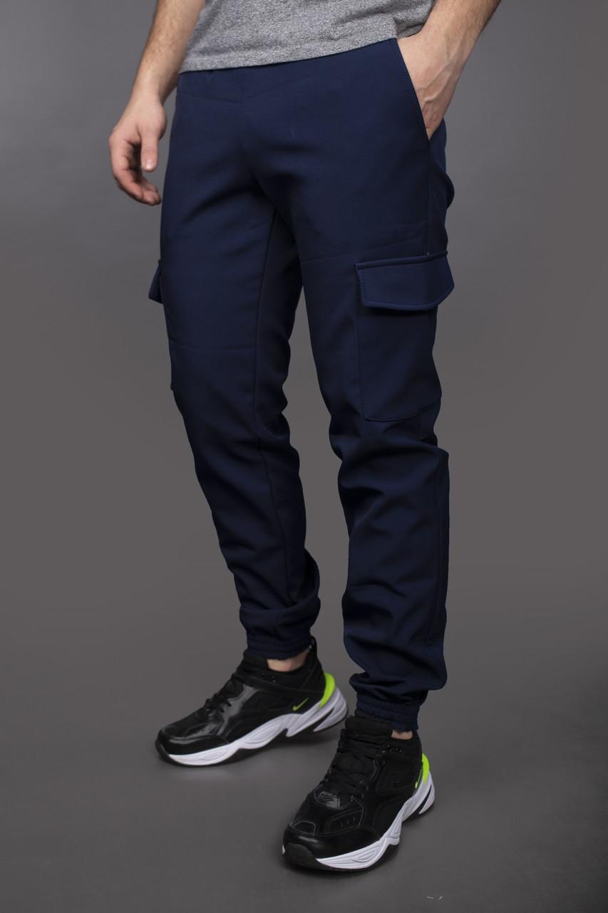 Мужские зимние темно синие штаны Intruder