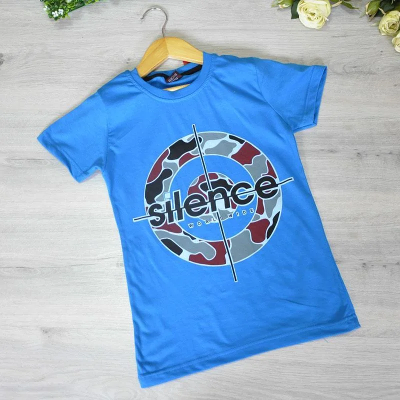 Дитяча футболка, трикотаж, для хлопчика 9-12 років (4 од. уп), Синій