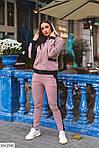 Теплый спортивный женский костюм на флисе (Батал), фото 10
