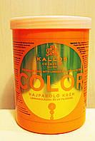 Маска для волос Kallos KJMN Color с льняным маслом и УФ-фильтром 1000 мл.