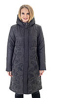 Р-50,52,54,56,58,60,62,64,66 Красивая женская модная весенняя удлиненная куртка- плащ, демисезонная, на молнии