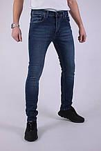 Мужские брэндовые джинсы Stretch Slim Fit зауженные  (темно синий)