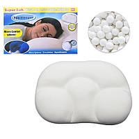 Ортопедическая подушка с эффектом памяти Анатомическая для сна Egg Sleeper Белая с шариками