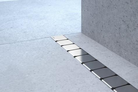 Душовий канал 10° 850 - нержавіюча сталь