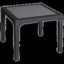 Стол квадратный IRAK PLASTIK COMFORT 90X90 под ротанг