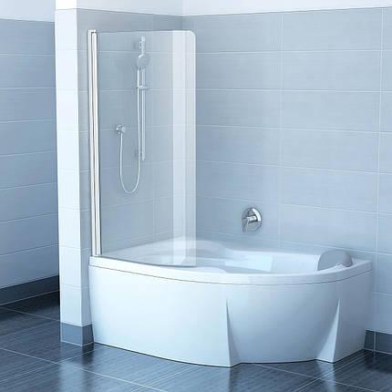 Шторки для ванни CVSK1-160/170 L Сатин (Transparent), фото 2