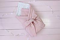 """Конверт одеяло на выписку 2 в 1 """"Розовая вафелька"""" 2637"""