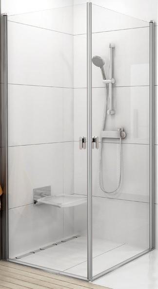 CRV1-100 white (Transparent) Душові двері