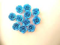 Голубые розы из полимерной глины