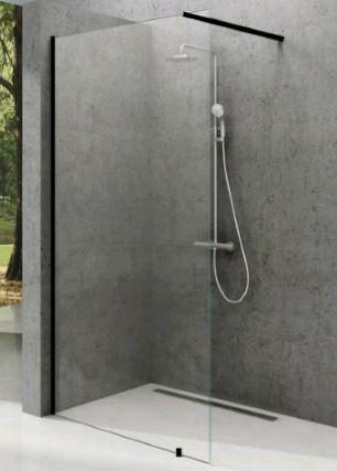 Нерухома стінка Walk-IN Wall 1000x2000mm Black Transparent