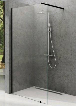 Нерухома стінка Walk-IN Wall 1000x2000mm Black Transparent, фото 2