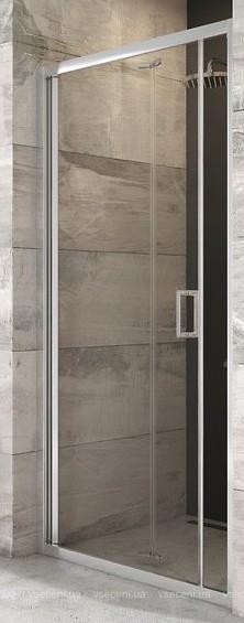 BLDZ 2-90 (Transparent) Bright alu Душова двері