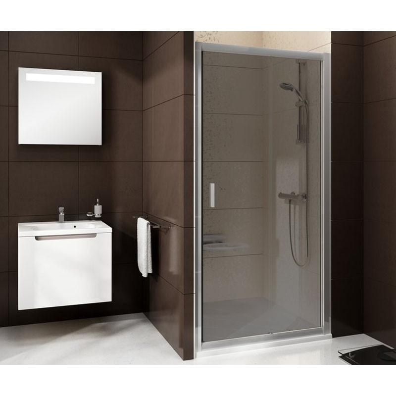 BLDP 2-120 (Transparent) White Душевая дверь