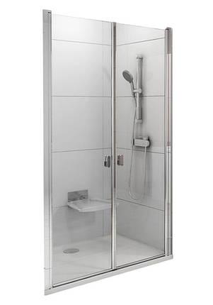 CSDL2-90 white (Transparent) Душові двері, фото 2
