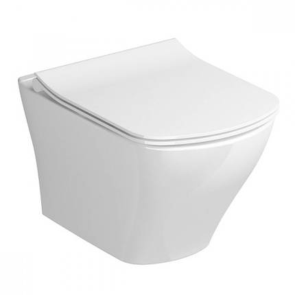 Унітаз Classic RimOff підвісний, білий, фото 2